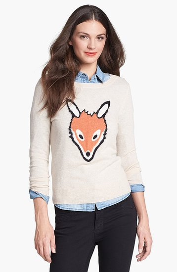 Who's foxy now? You could be in this Only Mine Cashmere Blend Crewneck Sweater ($108).