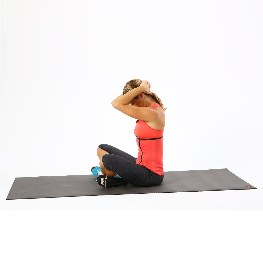 Seated Clasping-Neck Stretch