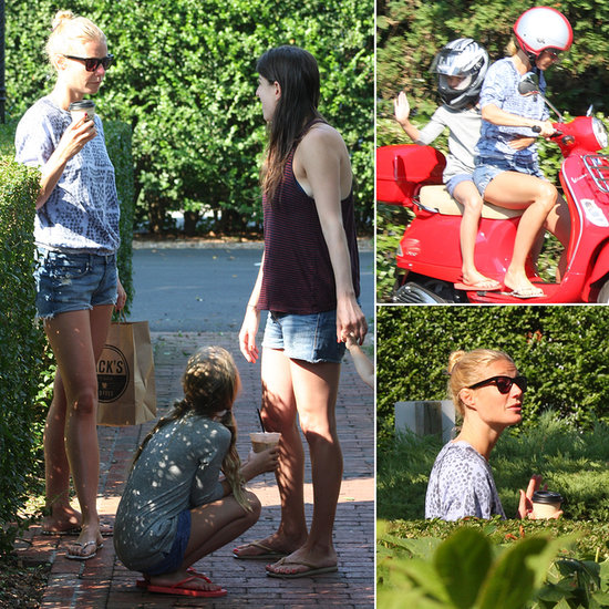 Gwyneth Paltrow Zips Through the Hamptons