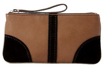Scalloped Suede Pouch