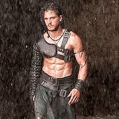Shirtless Kit Harrington in Pompeii Teaser
