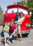 Jack Moynahan and Benjamin Brady visited Cars Land at Disney California Adventure with their parents over the Summer.