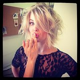 Julianne Hough got a touch-up before shooting a Sole Society campaign. Source: Instagram user juleshough