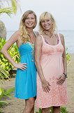 Katie Collins and Tina Wesson  Ages: 25 and 52 Relationship: Daughter and mother Hometowns: New York, NY, and Robbinsville, NC Occupations: Hedge fund support and motivational speaker Alumni cred: Tina won Survivor: Australia