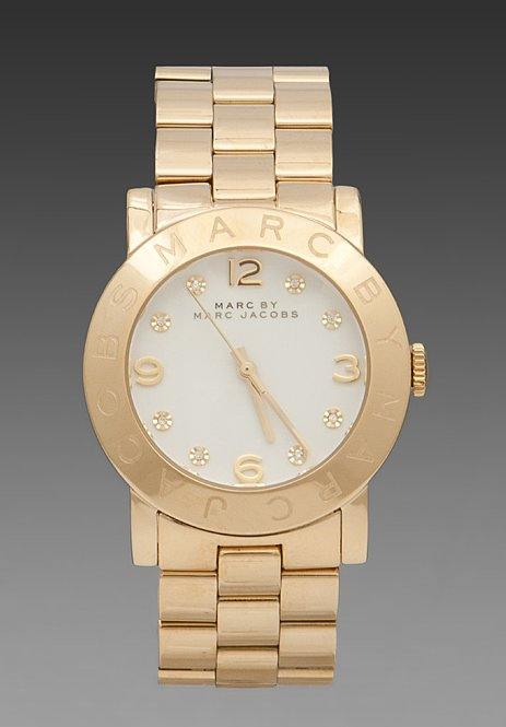 Not all time tellers are the same. This Marc by Marc Jacobs Amy watch ($200) features a polished gold finish and cute floral details.