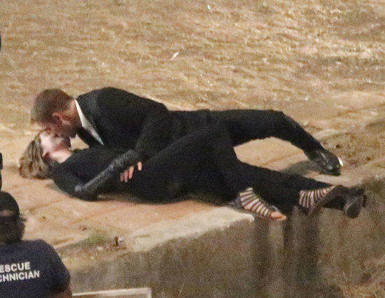 Robert Pattinson and Mia Wasikowska shared a steamy kiss on set.
