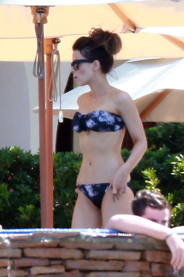 Kate Beckinsale donned a two-piece for a family vacation in Mexico in August.