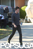 Zach Braff hit the set of Wish I Was Here in LA.
