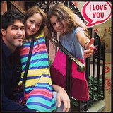 Soleil Moon Frye's girls, Jagger and Poet Goldberg, joined their father, Jason, for a stoop-side photo in NYC using Moonfrye's new app. Source: Instagram user moonfrye