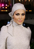 This matching scarf and dress ensemble was a shining moment for Jennifer Lopez. Fierce smoky eye brought it all together.