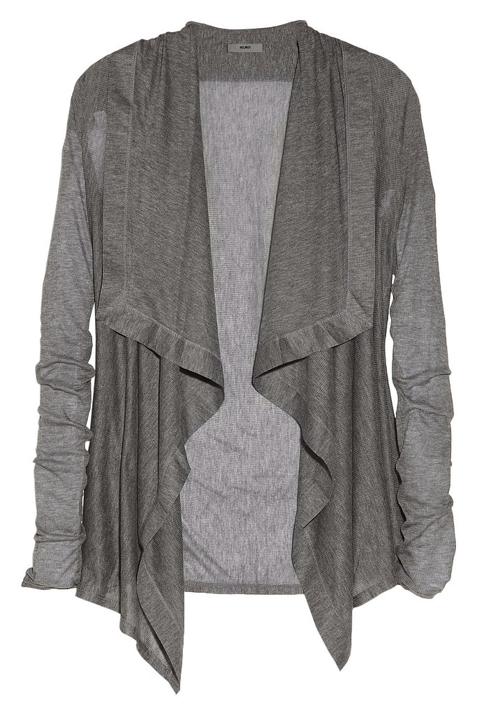 Helmut Lang's Voltage draped modal cardigan ($140) is the perfect layering piece.