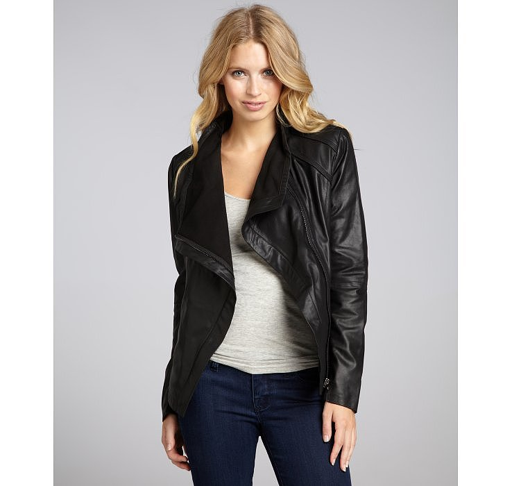 We love the draped detailing on this Elie Tahari leather jacket ($329, originally $425).