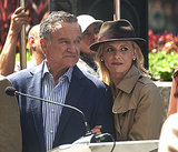 Sarah Michelle Gellar and Robin Williams filmed The Crazy Ones in LA on Thursday.