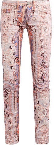 Isabel Marant Jalyne printed mid-rise skinny jeans