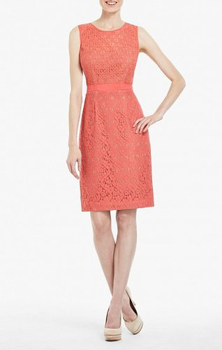 BCBG ALICE LACE SHEATH DRESS RED