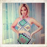 Beyoncé flaunted her bob, midriff, and bold print on Instagram. Source: Instagram user beyonce