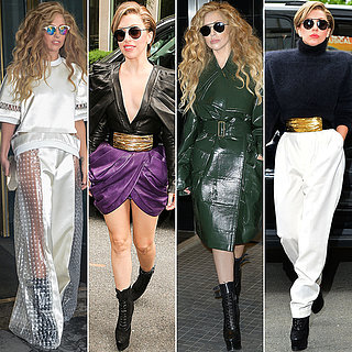 Celebrity Transformations: Lady Gaga's Designer Style, 2013