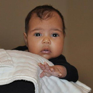 First Picture Of Kanye West & Kim's Daughter North West