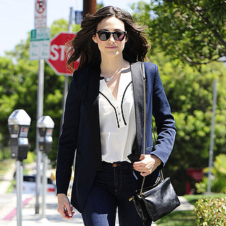 Emmy Rossum Wearing Fall Boots