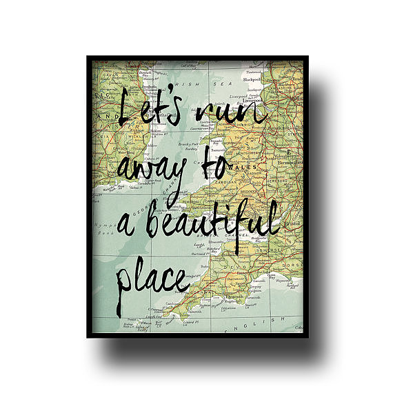 Vacations feel within reach when you have this Vintage Map Print ($16) on your side.