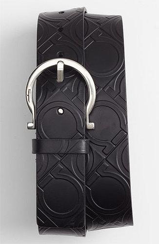 Salvatore Ferragamo Gancini Leather Belt Black 34