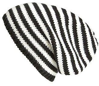 San Diego Hat Striped Knit Beanie Black One Size