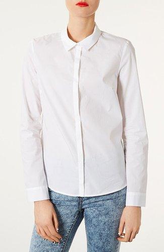 Topshop Cotton Shirt White 8