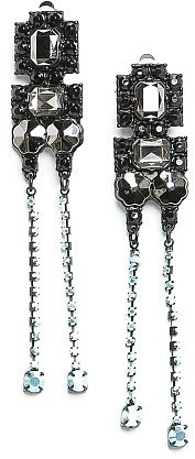 TOUCH - Strass long earrings