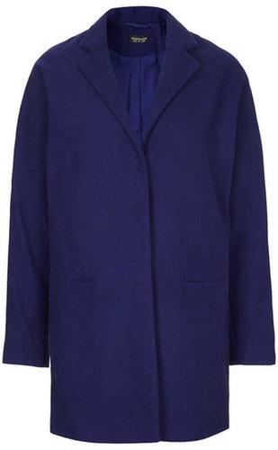 Popper Front Boyfriend Coat