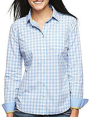 jcpTM Long-Sleeve Poplin Shirt