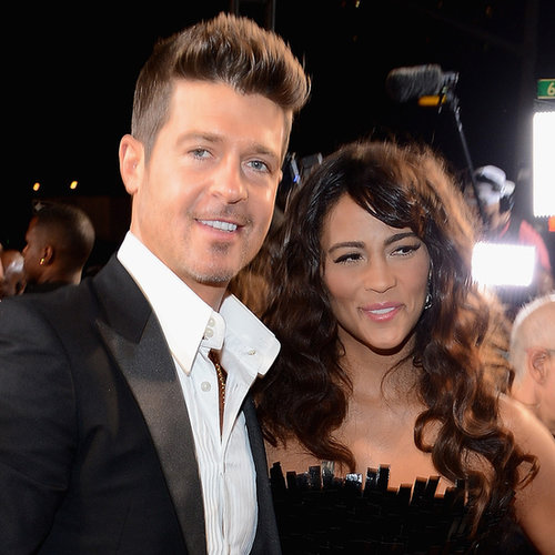 Robin Thicke and Paula Patton at the MTV VMAs 2013