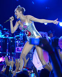 Miley Cyrus sported a bear-inspired leotard for her VMAs performance.