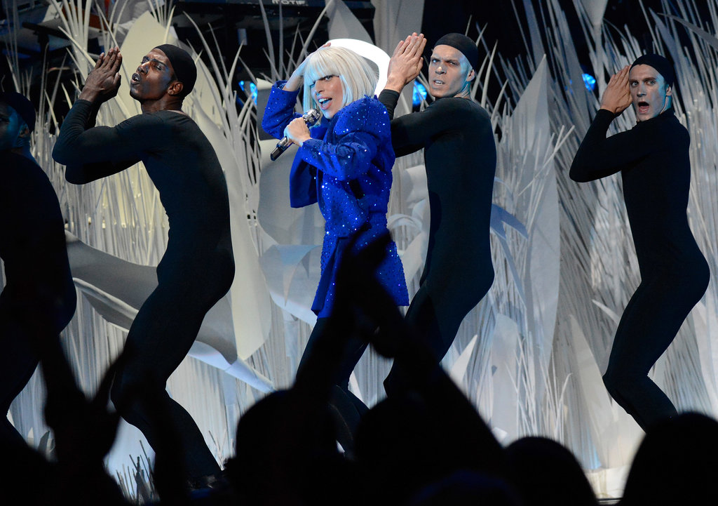 """Lady Gaga opened the show with a performance of """"Applause."""""""