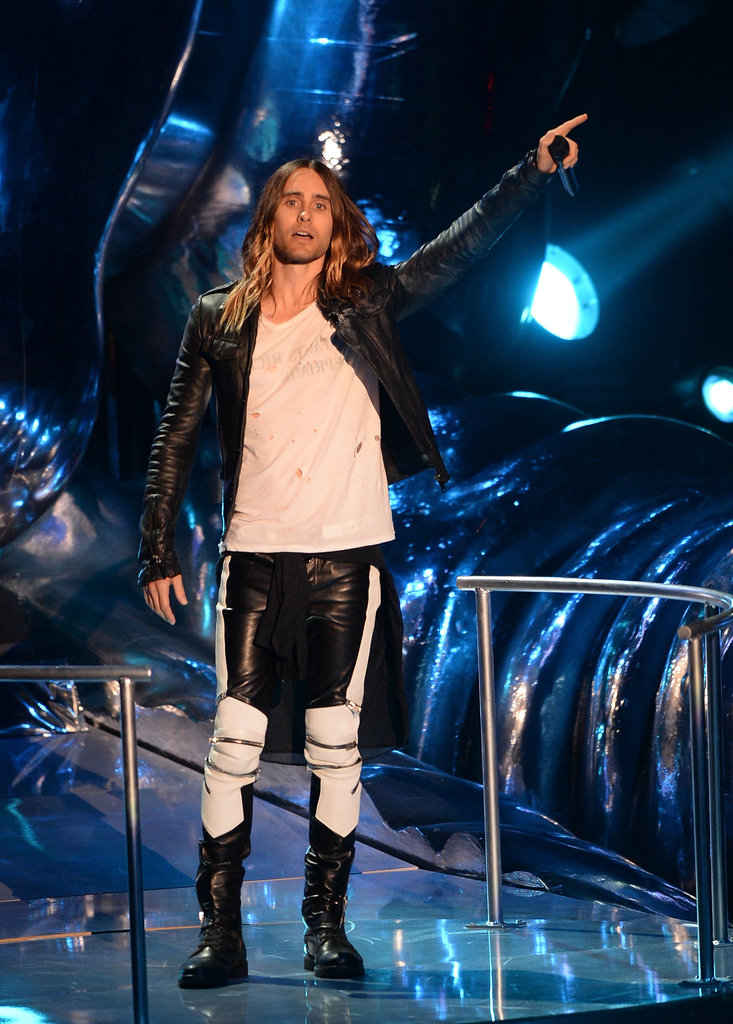 Jared Leto took the stage at the VMAs.