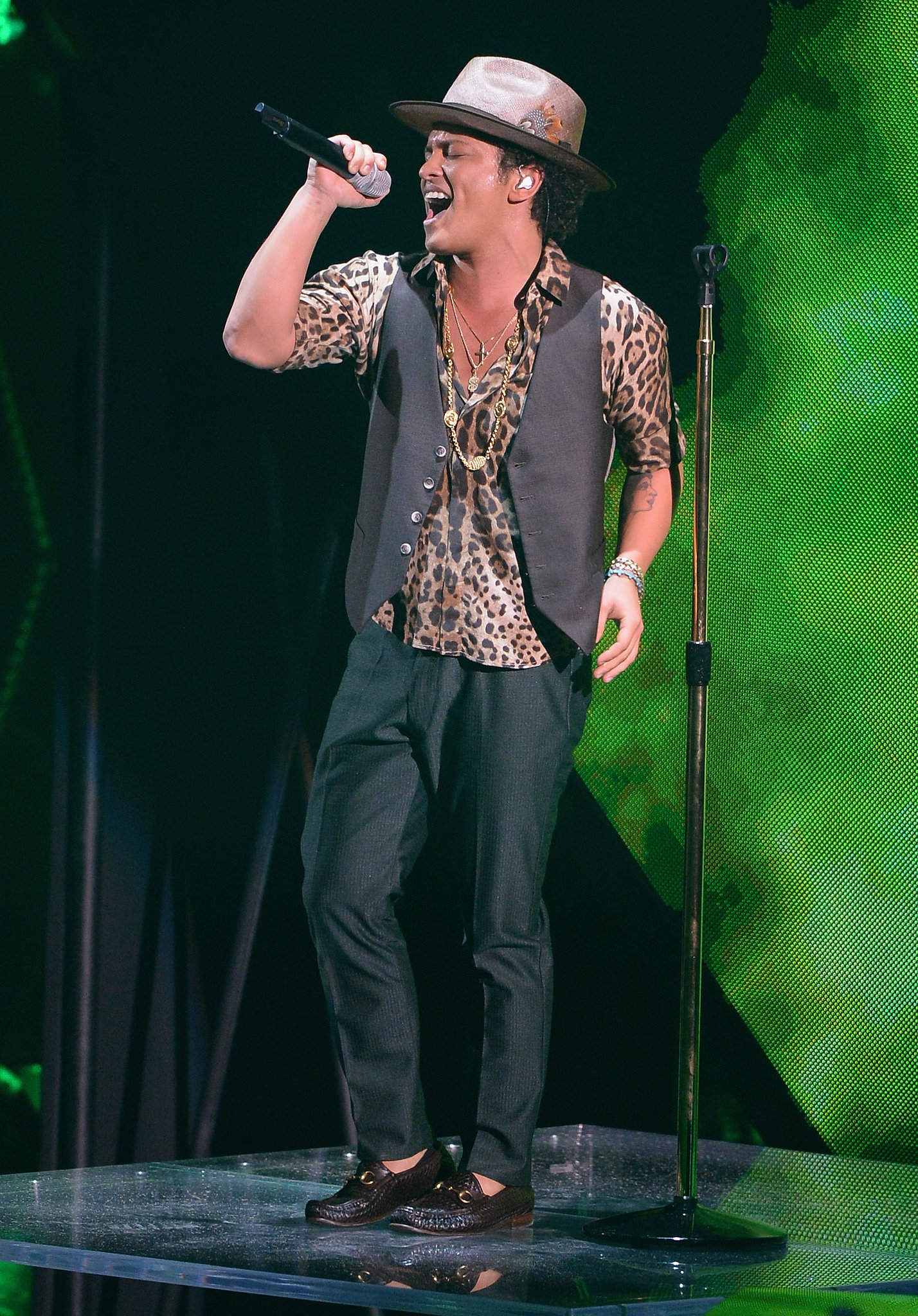Bruno Mars performed at the VMAs.