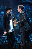 Jimmy Fallon presented Justin Timberlake with the Michael Jackson Video Vanguard Award.