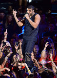 Drake took the mic for a performance at the VMAs.