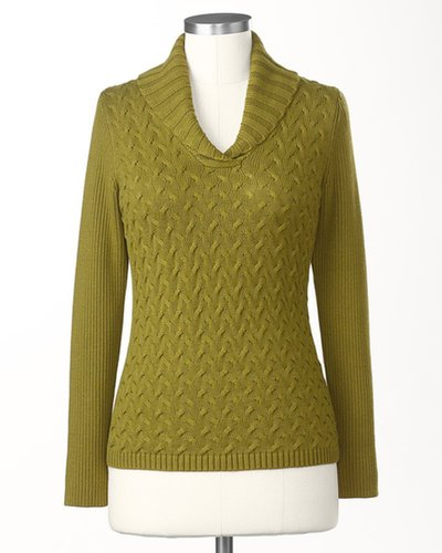 Braided cable pullover