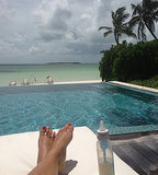 Reese Witherspoon relaxed poolside during a getaway to the Bahamas. Source: WhoSay user RWitherspoon