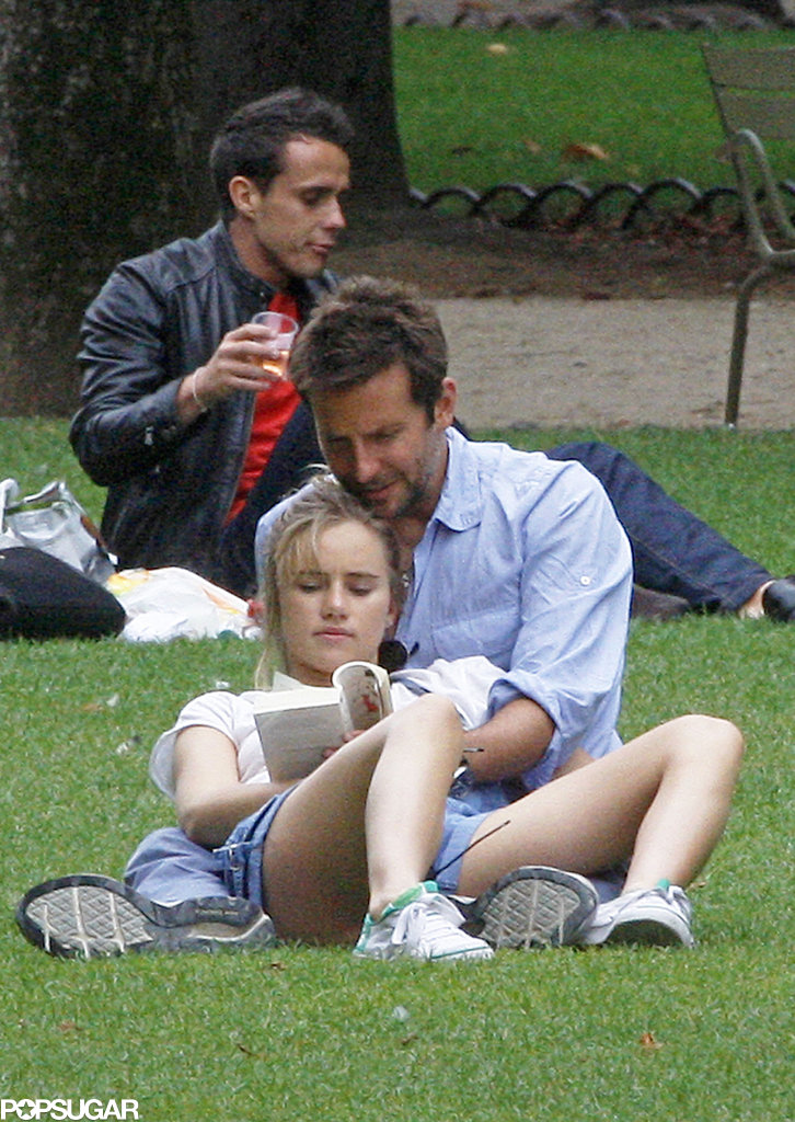 Bradley Cooper and Suki Waterhouse showed some PDA while at a park in Paris.