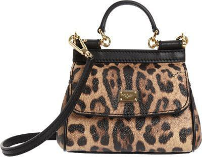 Dolce & Gabbana Leopard Print Micro Miss Sicily Bag