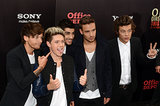 The guys of One Direction joked around on the red carpet.