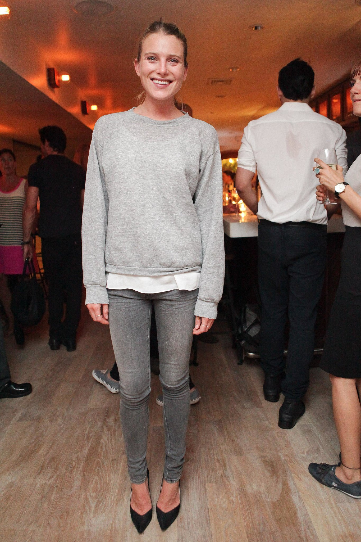 Dree Hemingway looked cool and casual for the East Pole launch event.