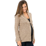Adorned with a cute bow belt, this shawl collar cardigan ($40) from Motherhood Maternity is made from a durable and washable cotton and acrylic blend.
