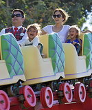 Jennifer Lopez rode the rides at Disneyland with her twins, Max and Emme.