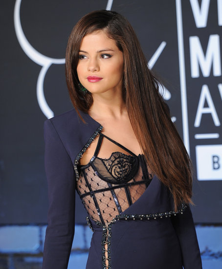Selena Gomez's extralong straight locks give off a shine that many can only dream of.