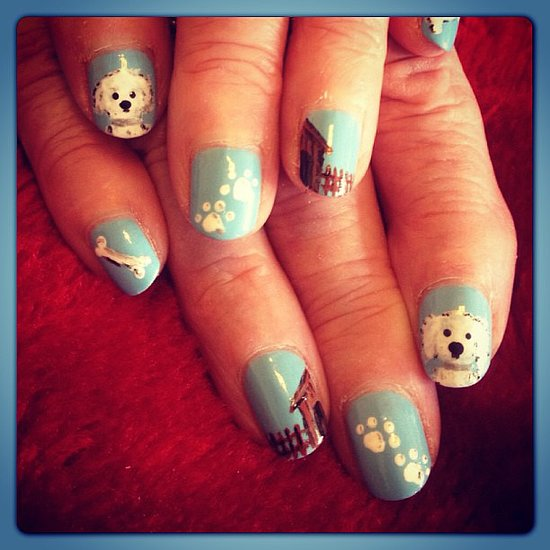 Nail art designs dog tutorial easy dog nail art wedding nail designs aliquid art weddbook view images dog prinsesfo Image collections