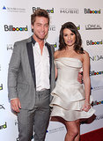 Lea Michele linked up with Lance Bass for a Billboard event in NYC back in December 2010.