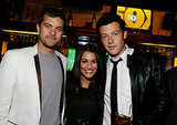 Lea Michele and her late boyfriend, Cory Monteith, posed with Joshua Jackson at Fox's Upfront presentation in NYC back in May 2009.