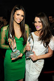 Lea Michele and Nina Dobrev were glowing after their People's Choice Award wins during the January 2012 show in LA.